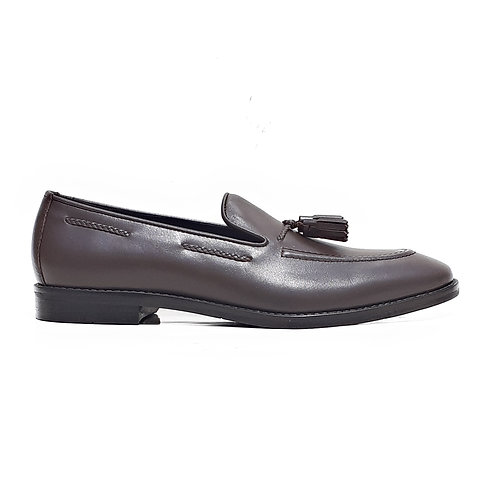 Edwin Tassle Loafers Choc Brown