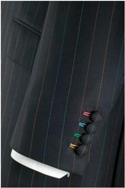 Coloured Cuff Buttonholes