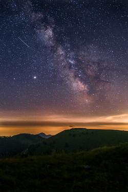 Voie Lactée au dessus de Nice