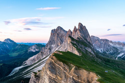 Blue Hour on Seceda