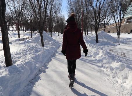 Walk on the Frozen River in Winnipeg Manitoba