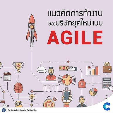 """แนวคิดการทำงานของบริษัทยุคใหม่แบบ""""Agile"""""""