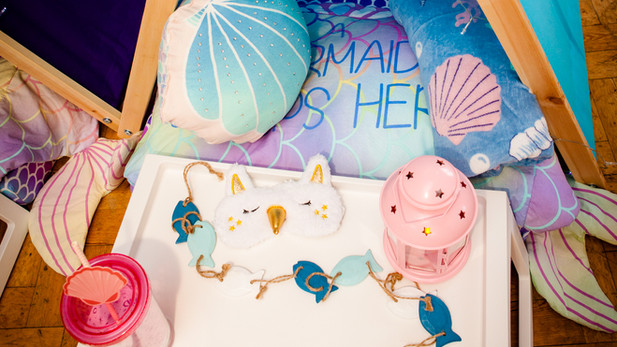 Mermaid Theme Sleepover Details