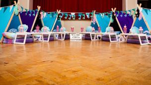 Mermaid Theme Sleepover 6 Tent Set up