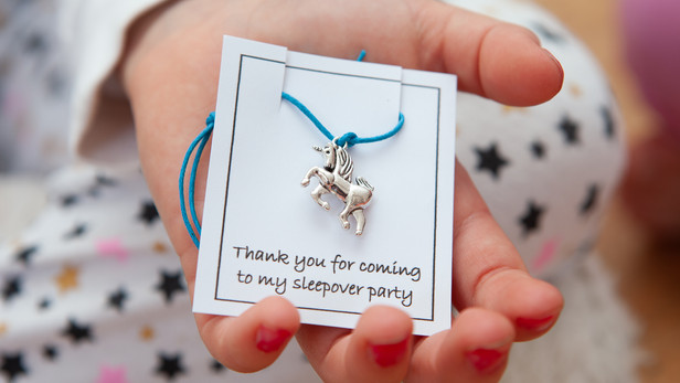 Unicorn Theme Sleepover Favours