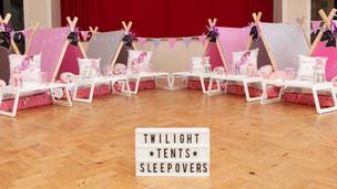 Unicorn Theme Sleepover 6 Tent Setup