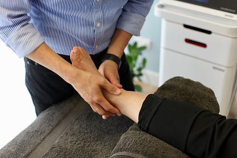 Ankle treatment at  Wellbeing Physio