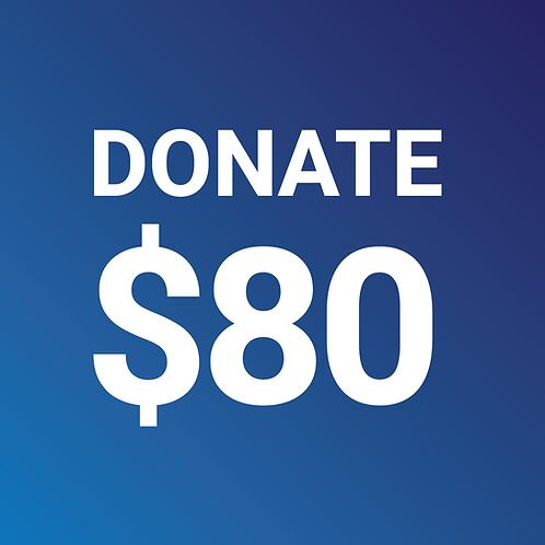 Make an $80 Donation