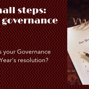 Small steps - great governance - What's your New Year's resolution?