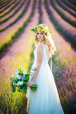 Lordington Lavender Bridal Shoot-3