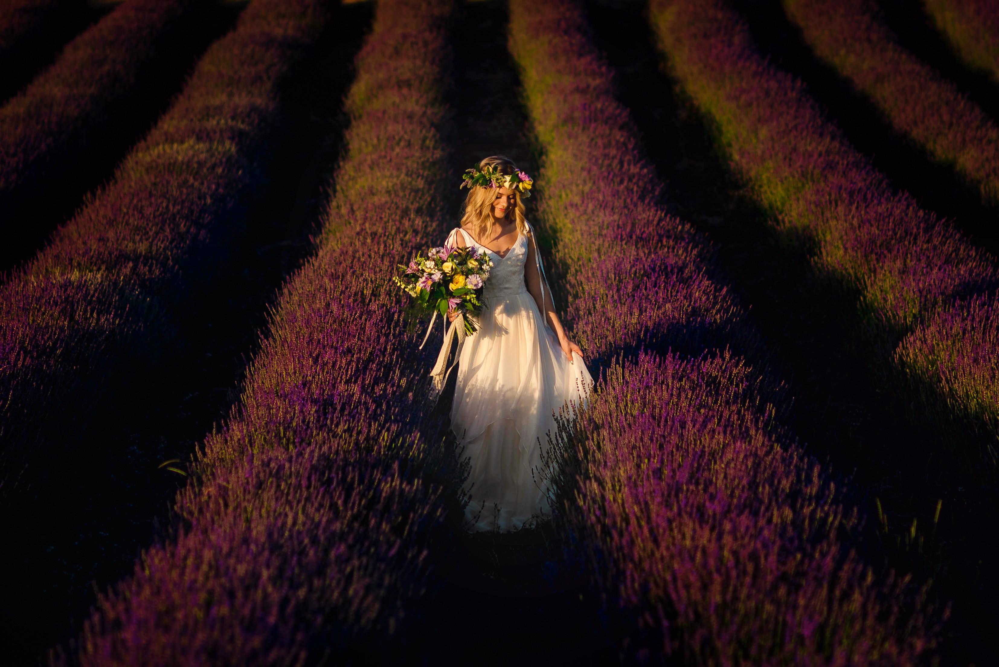 Lordington Lavender Bridal Shoot-14