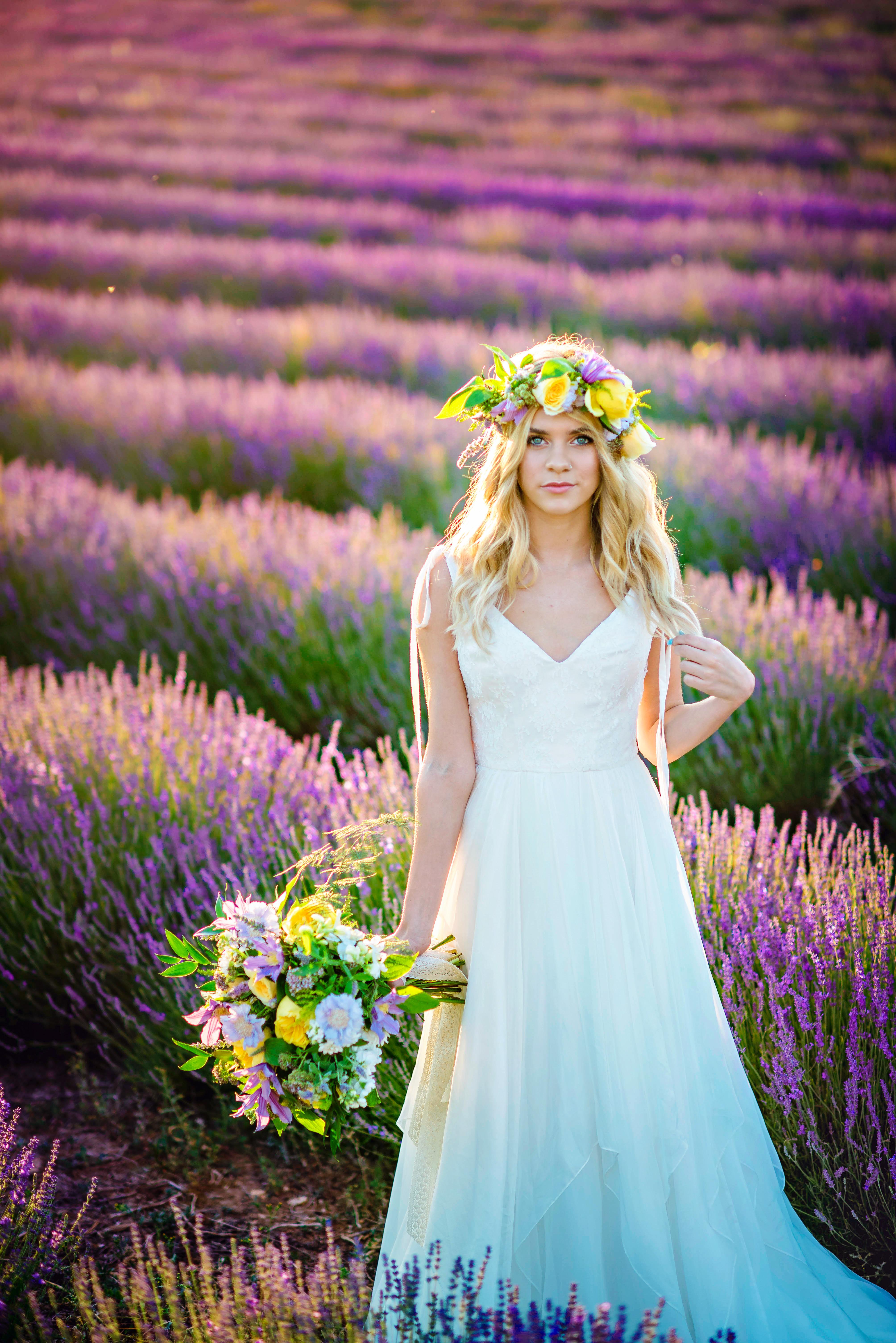 Lordington Lavender Bridal Shoot-19