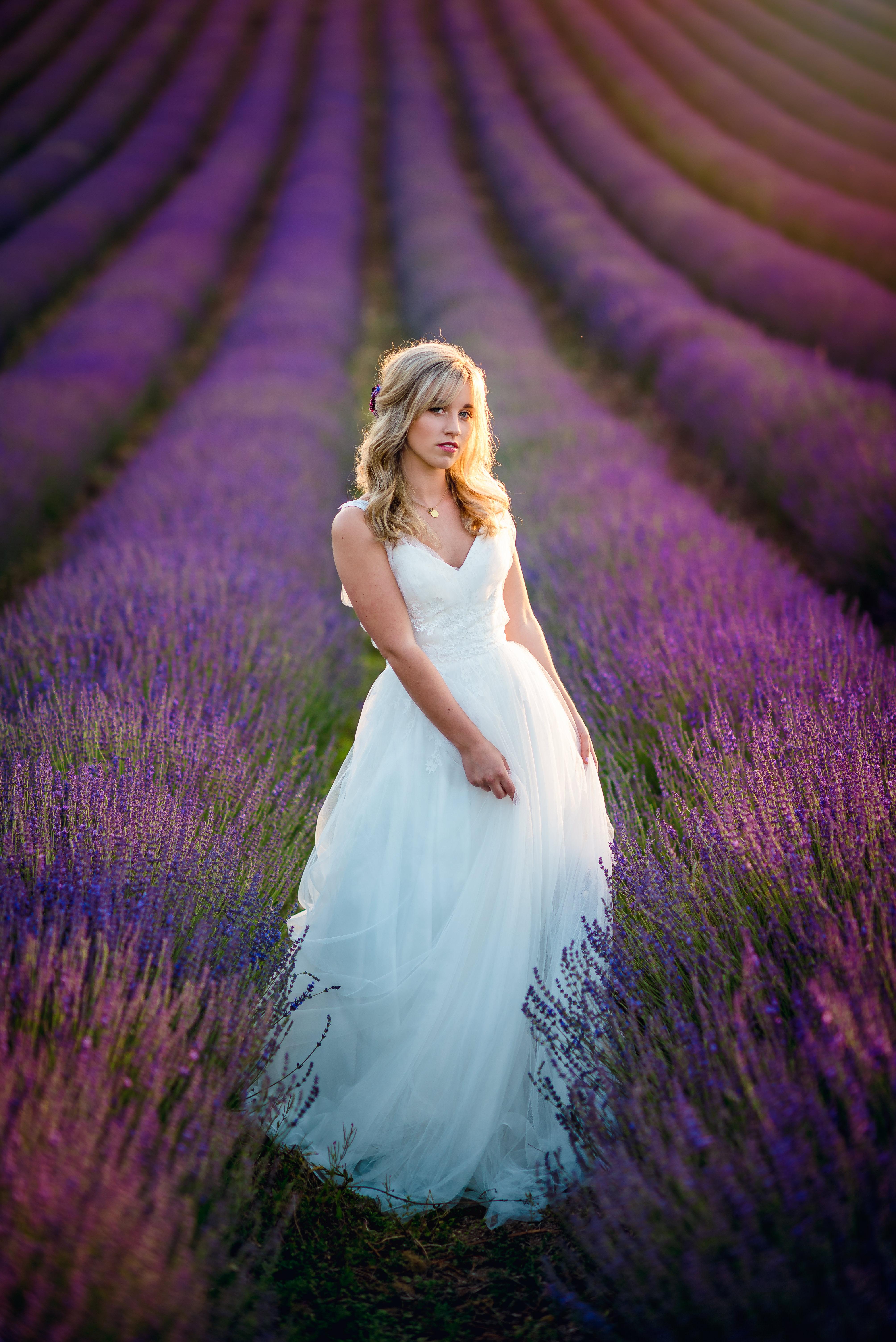Lordington Lavender Bridal Shoot-22