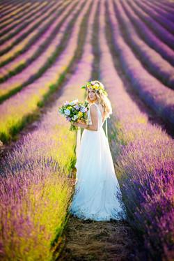 Lordington Lavender Bridal Shoot-1