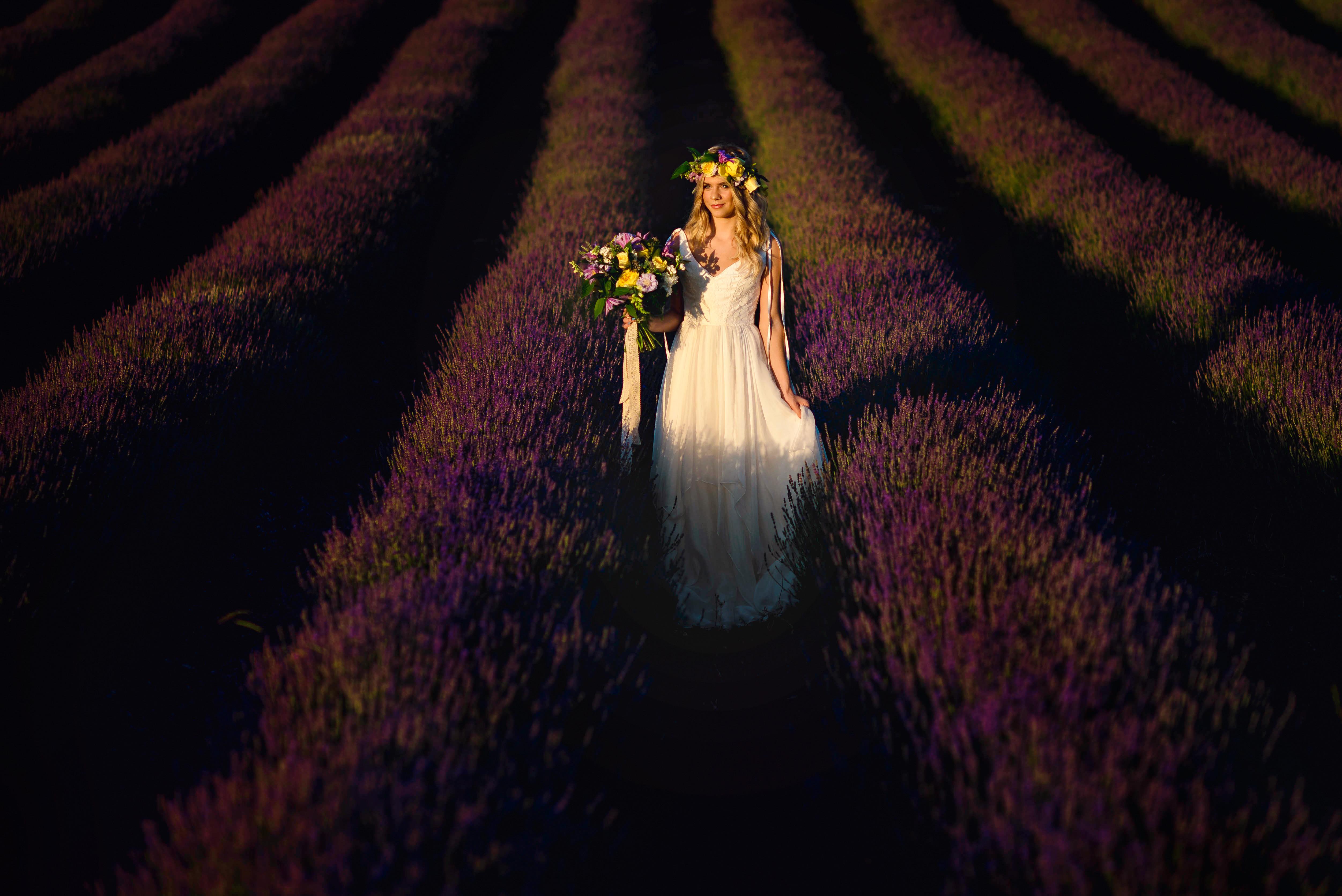 Lordington Lavender Bridal Shoot-15