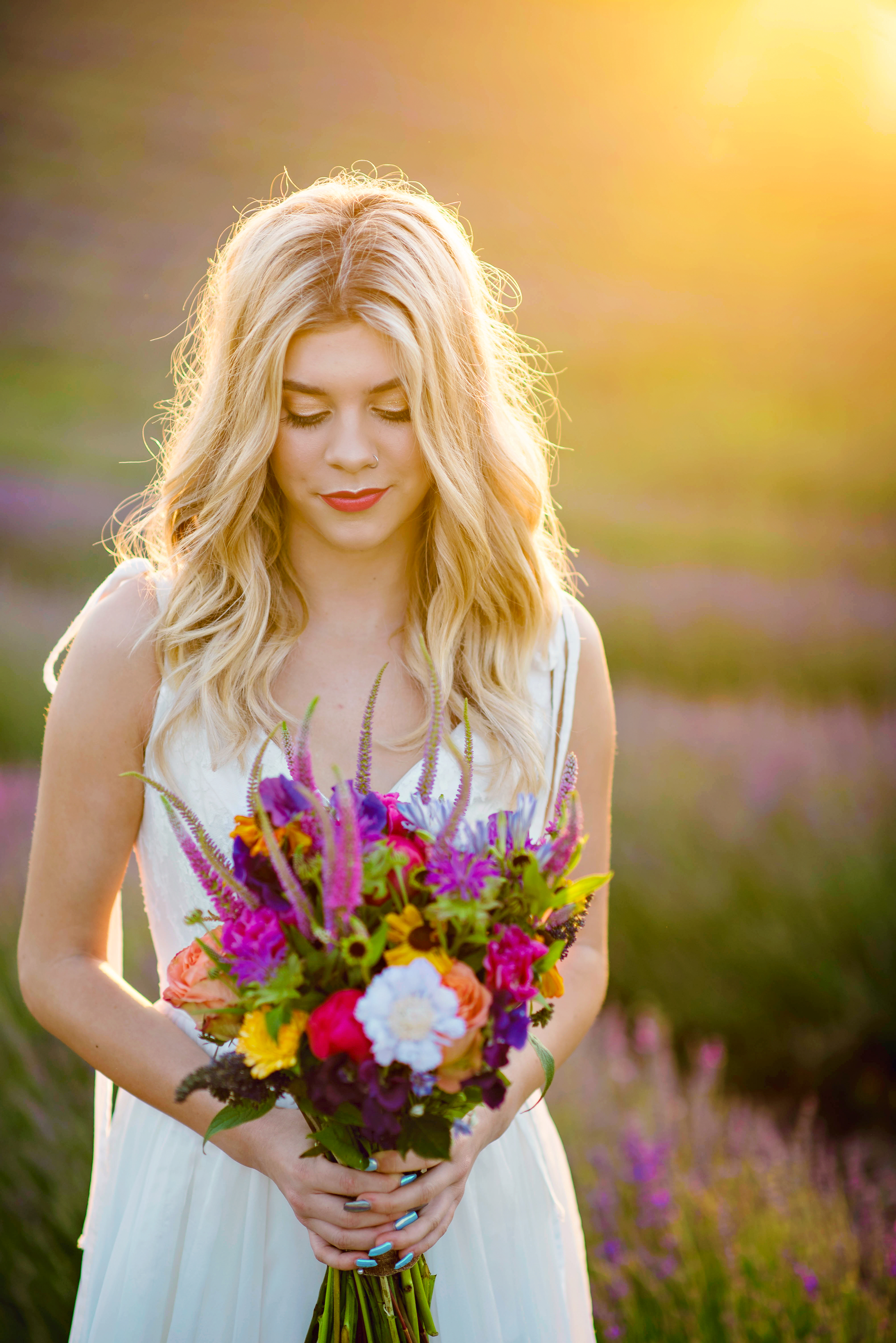 Lordington Lavender Bridal Shoot-34
