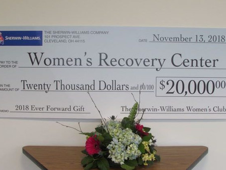 Sherwin-William's Women's Club 2018 Belle Award