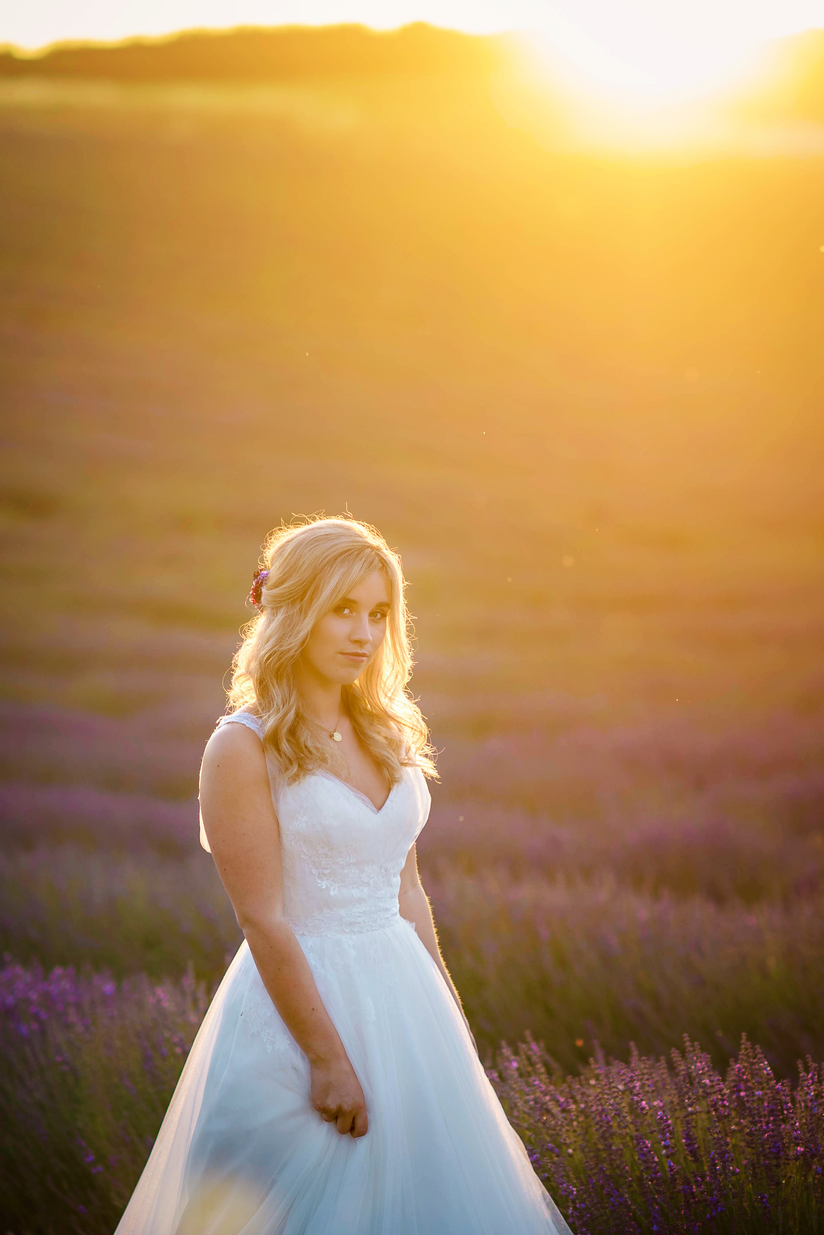 Lordington Lavender Bridal Shoot-28
