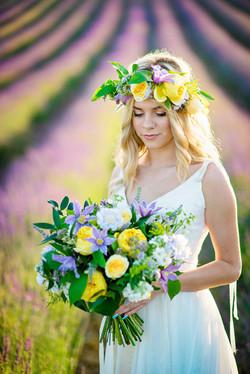 Lordington Lavender Bridal Shoot-6