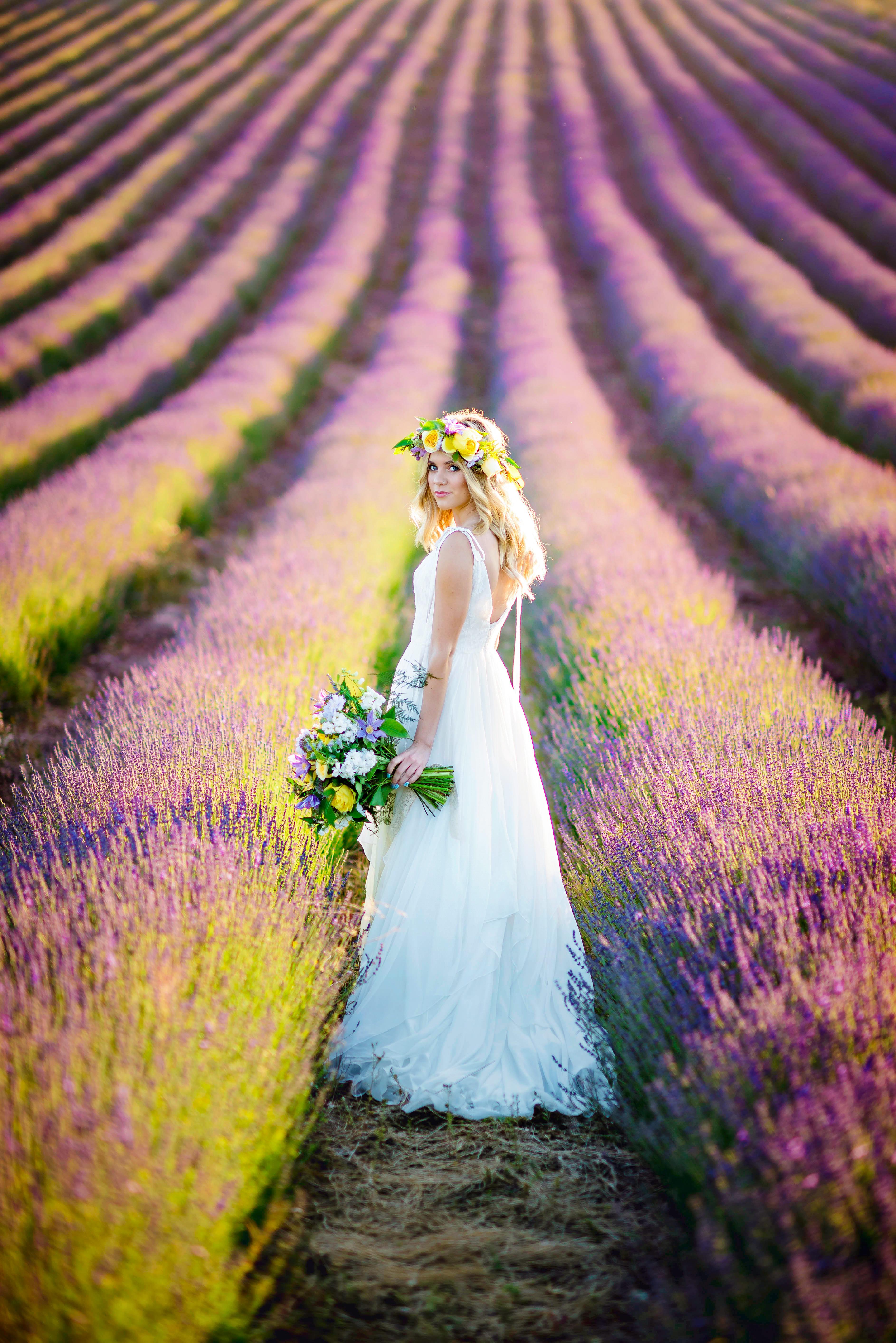 Lordington Lavender Bridal Shoot-2