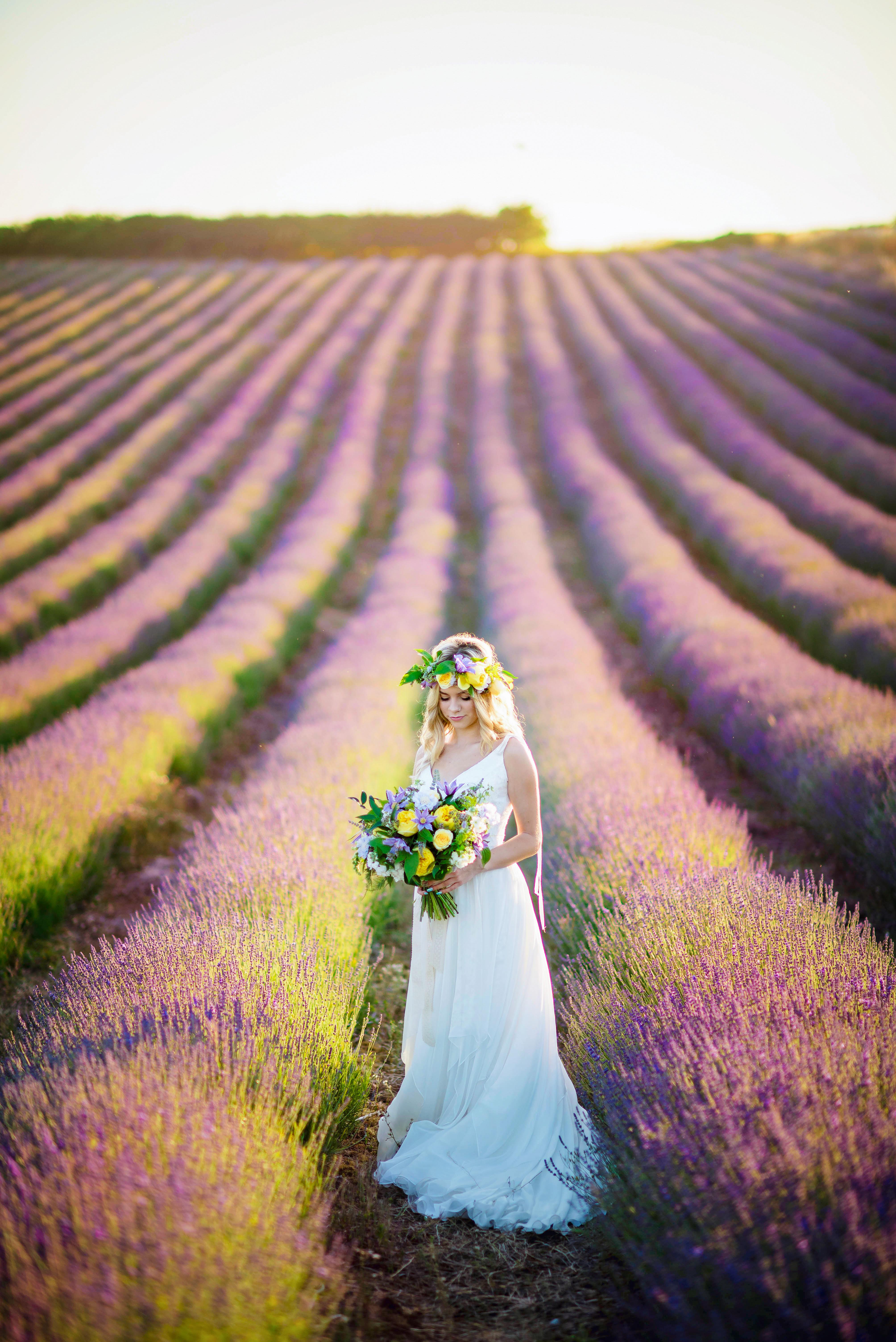 Lordington Lavender Bridal Shoot-5