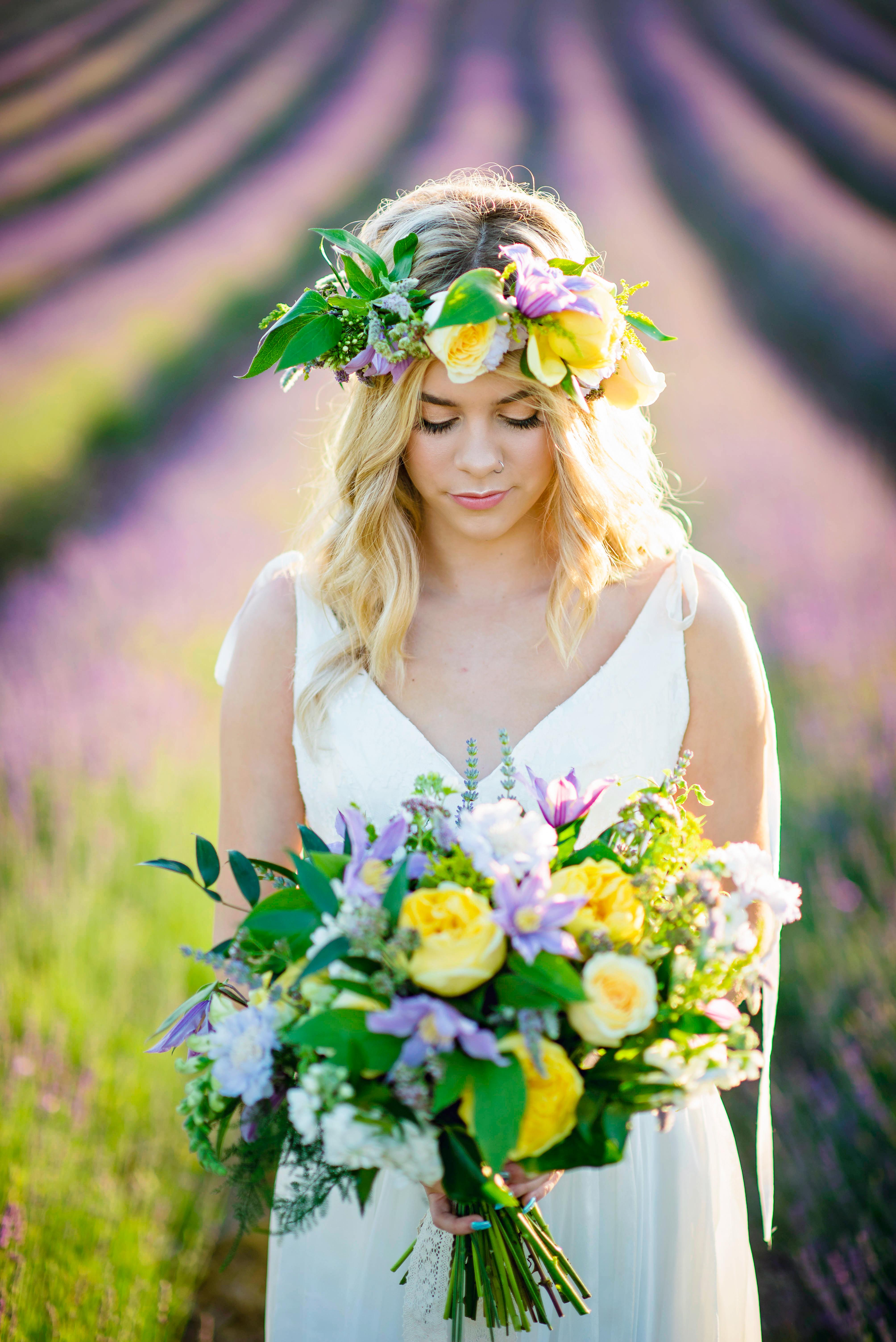 Lordington Lavender Bridal Shoot-8