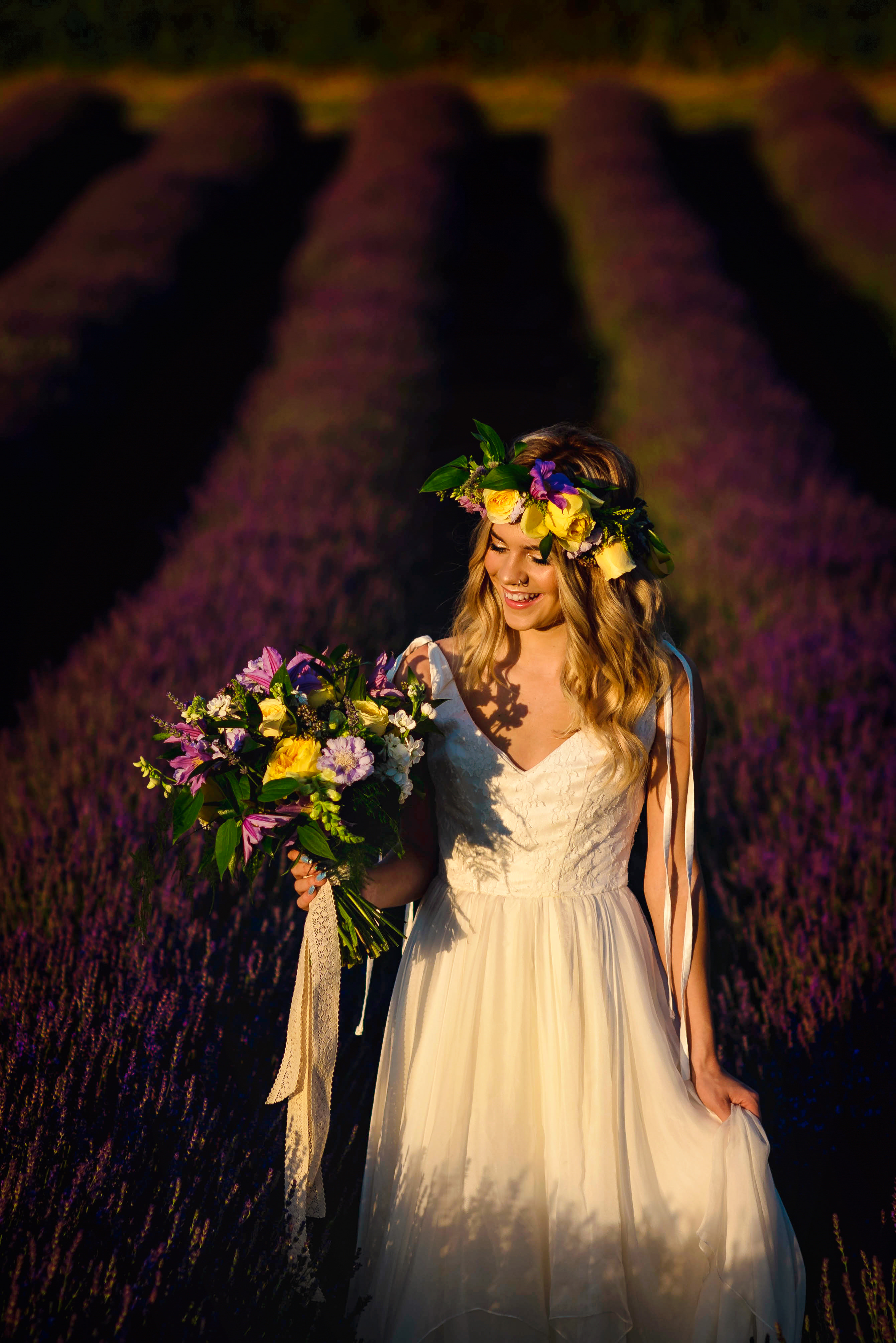 Lordington Lavender Bridal Shoot-16
