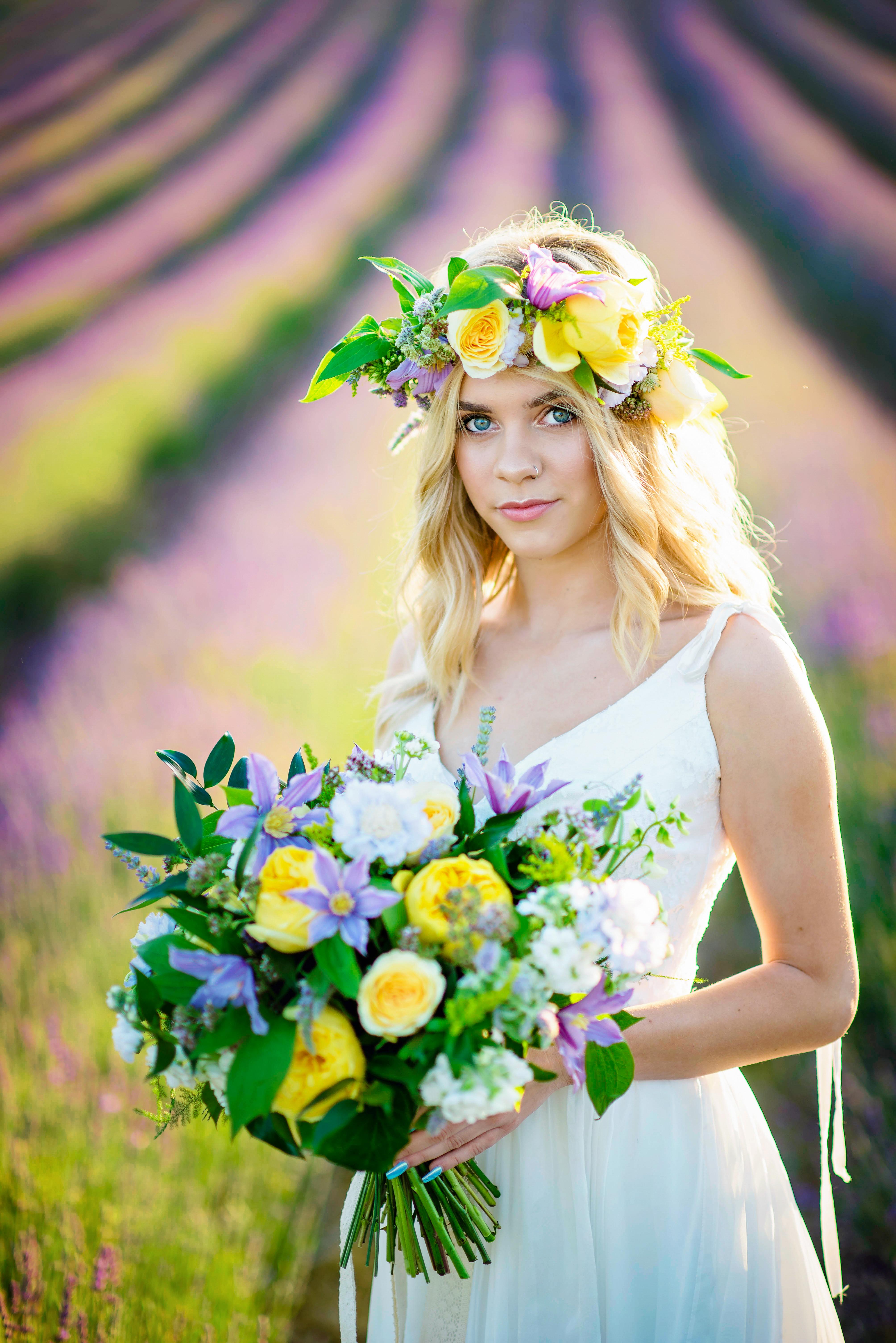 Lordington Lavender Bridal Shoot-7