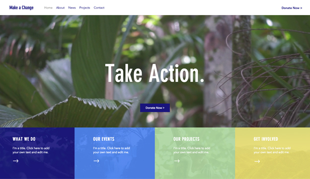 Events website templates – Environmental NGO