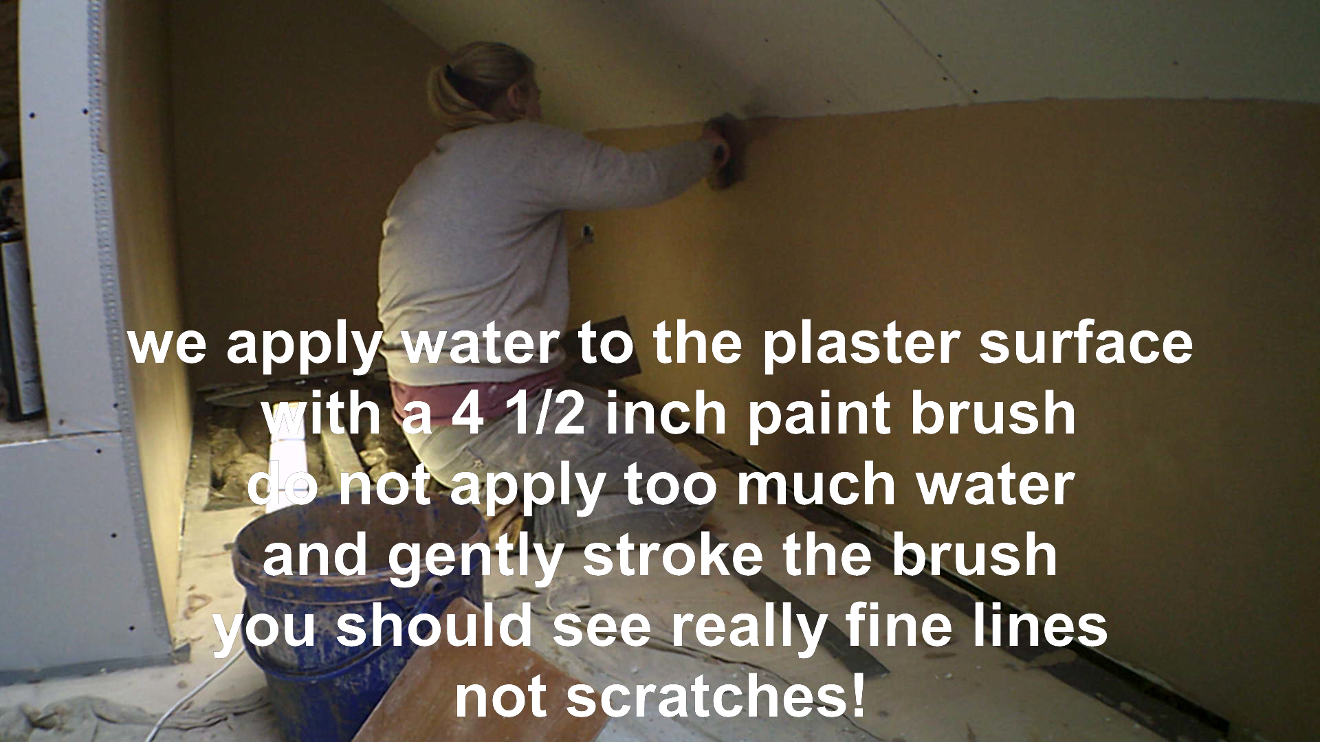 trowling up plaster