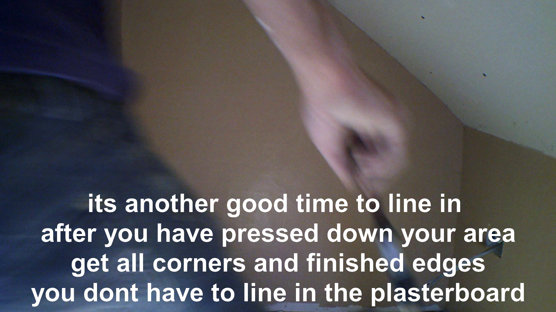lining in plaster