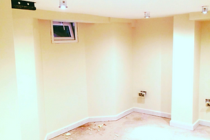 basement transformation plasterboard on tanking