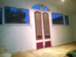 garden summer house double glazing curved door