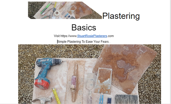 Plastering guide front cover