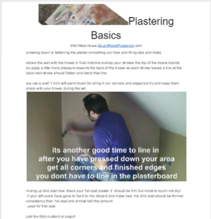 Plastering Guide sample