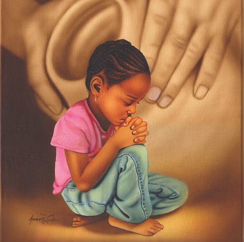 Kneeling Praying Girl