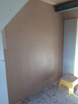 finish plaster on plasterboard before polishing rosie's work