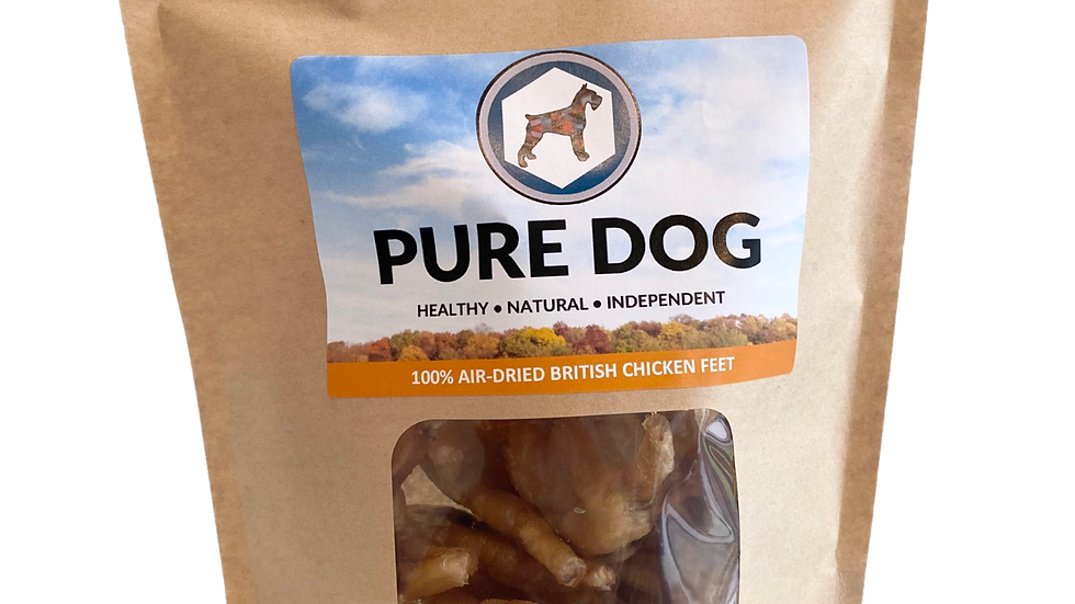 100% Air-Dried Chicken British Feet