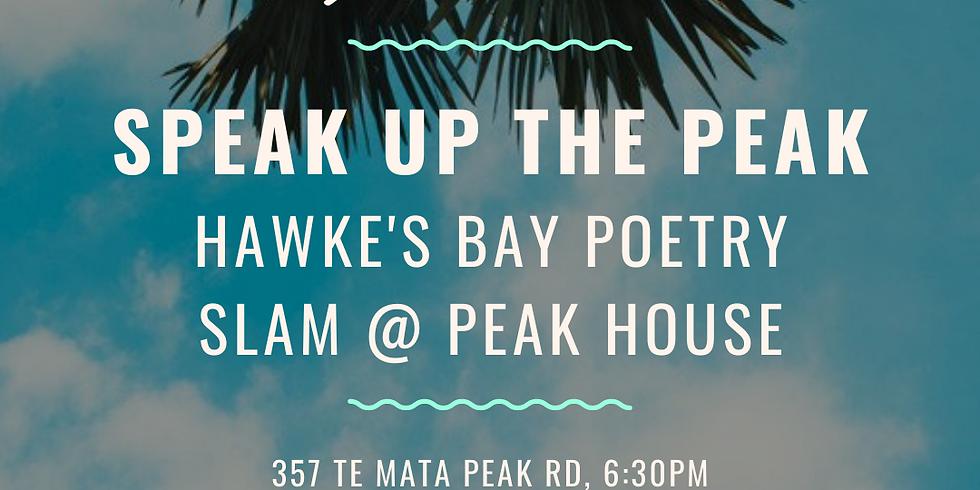 Speak up the Peak - Hawkes Bay Poetry Slam
