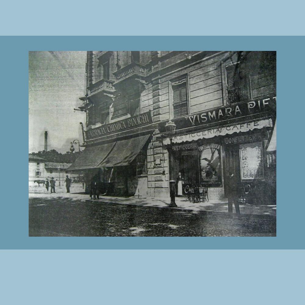 Primi anni del '900 – Le Botteghe Corso Lodi/ang Piazzale Medaglie d'oro (foto Luca Comerio - Archivio F.lli Branca)
