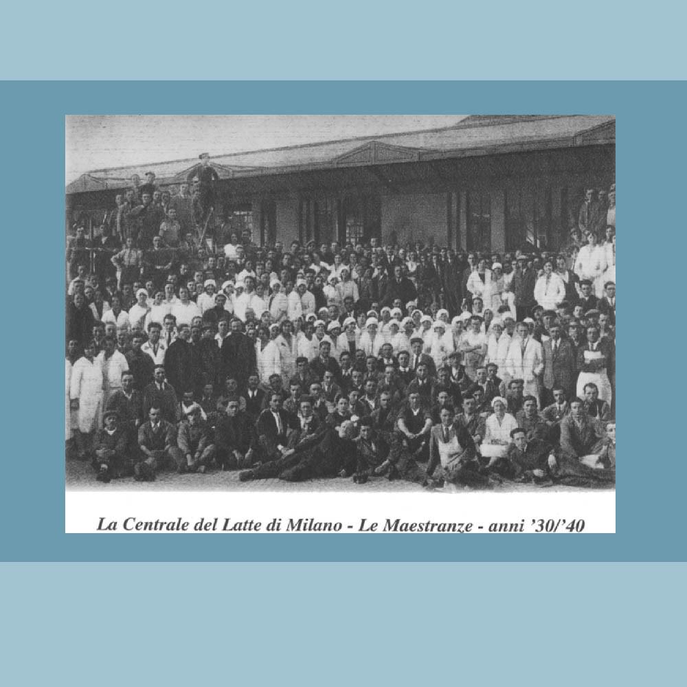 Anni '30-'40 - Le Maestranze della Centrale del Latte.