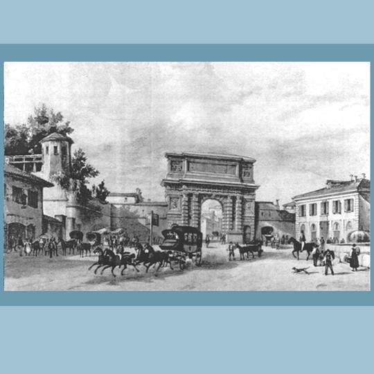 Porta Romana nel 1850 ca.