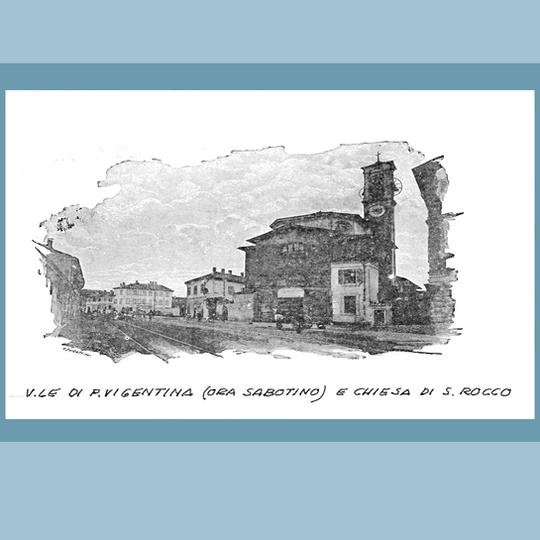 Viale di Porta Vigentina, ora Viale Sabotino.