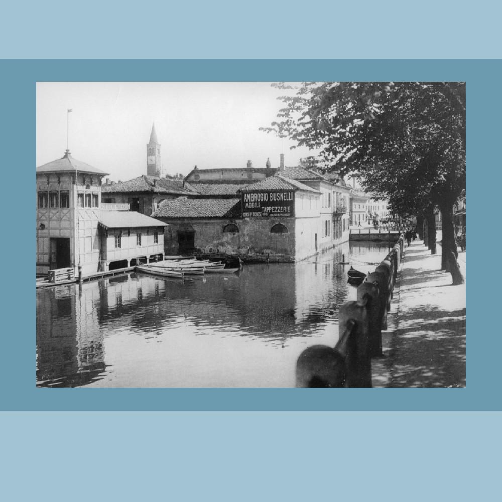 1905 - La Società Canottieri Milano in Darsena (Civica Raccolta Bertarelli, Milano)