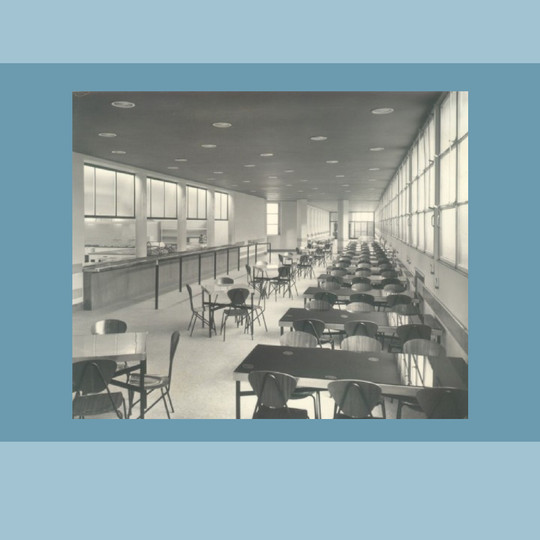 La mensa del pensionato  (foto  Archivio Resti - Biblioteca Bocconi)
