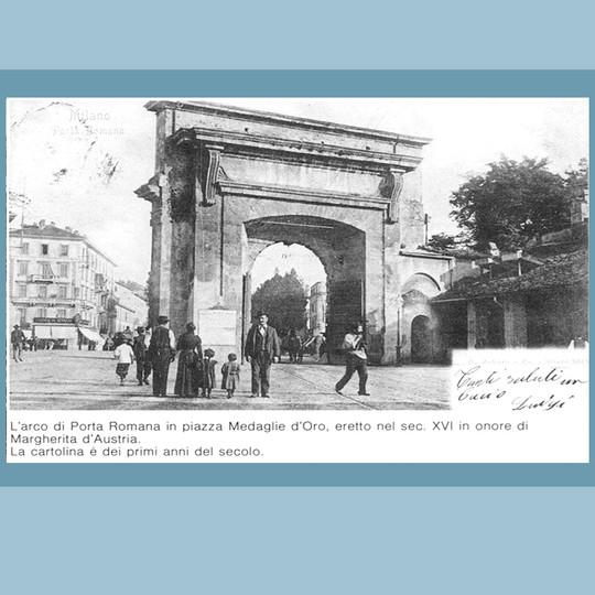 Arco di Porta Romana (vista dal Corso di Porta Romana)