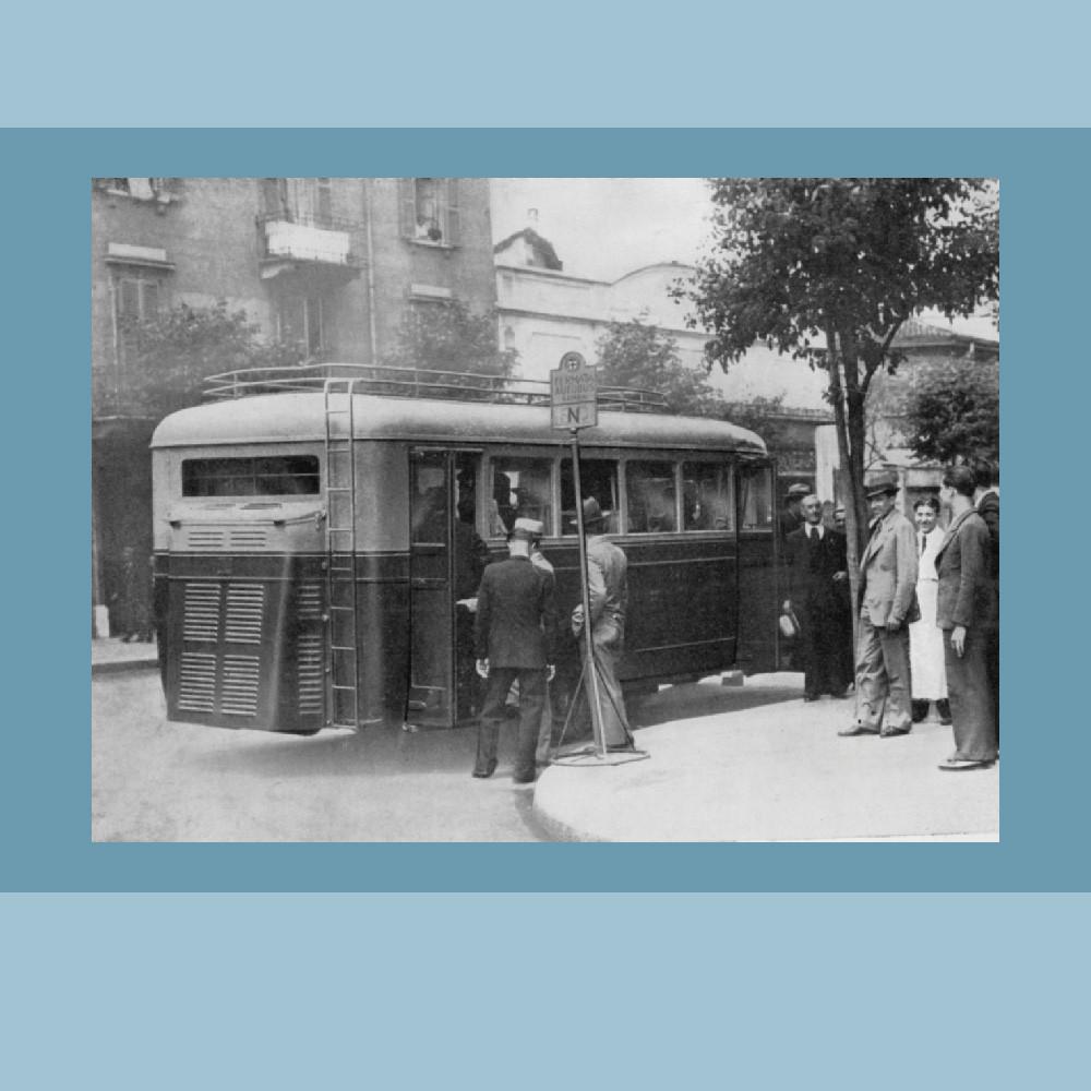 Anni '40 – Il primo autobus sperimentale – Via Crema
