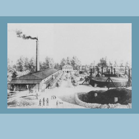 1860 – Officina del gas – litografia.