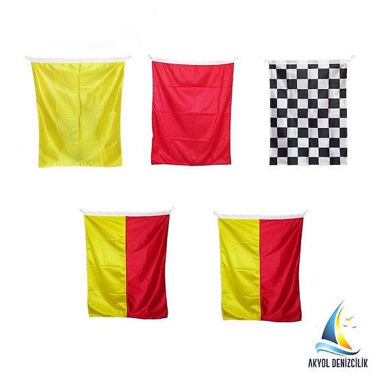 LIFE GUARD FLAG SET 5