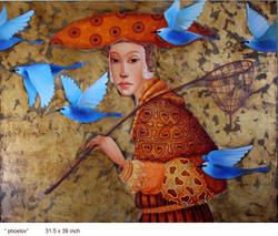 2013-03-Blue birds catcher 31x39 in